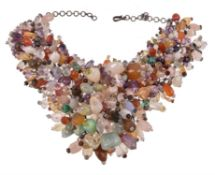 A multi stone necklace