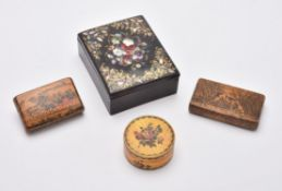 Y Four 19th century boxes