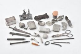 A collection of silver, silver coloured, electro-plated and white metal items