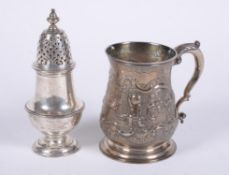 A George II silver baluster mug by James Wilks