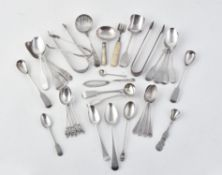 Y A collection of silver flatware