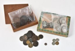 British and world coins in silver and base metal