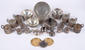 An accumulation of Ottoman and Persian silver and silver coloured items