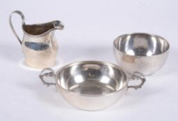 A Victorian silver bowl by Charles Edwards