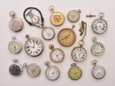 A collection of assorted pocket watches