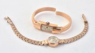 Juvenia, Lady's 9 carat gold bracelet watch