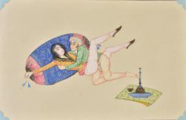 An album of twenty Persian 'erotic' watercolours