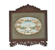 An good Indian Framed Miniature on Ivory Depicting the Taj Mahal