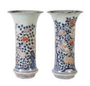 A Good Large Pair of Japanese Imari Porcelain Vases