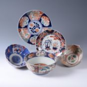 A group of Japanese Imari porcelain