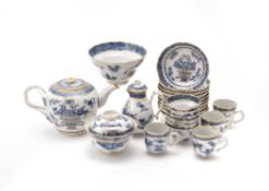 A Chinese blue and white part tea and coffee service