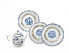 Three Chinese 'Famille Verte' plates