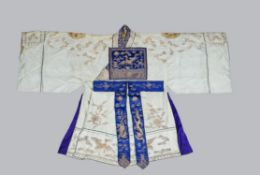 A Chinese white 2nd degree Taoist priests robe
