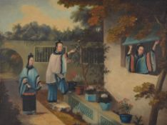 A Chinese Export oil painting