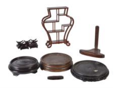 A small group of Chinese wood stands
