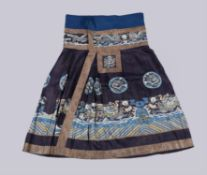 A Chinese Kesi weave skirt