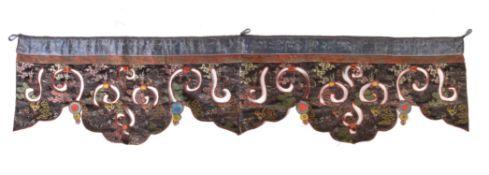 A Tibetan silk Temple banner