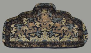 A rare Chinese throne cushion