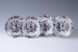 A set of four Chinese Imari plates