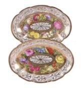 A pair of Coalport shaped oval serving dishes