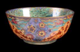 Daisy Makeig-Jones for Wedgwood, a Nizami pattern Lustre bowl