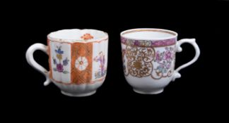A Derby polychrome Chinese Export style coffee cup