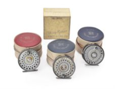 Hardy Bros Alnwick; three various 'The Zenith' fly reels