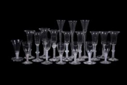 An assortment of Low Countries opaque-twist glasses