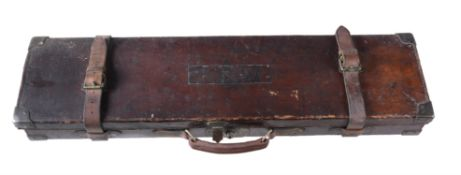 A William Powell, Birmingham, leather and brass-mounted gun case