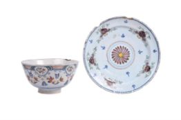 An English delft polychrome punch bowl