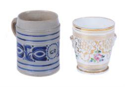 A Westerwald stoneware mug