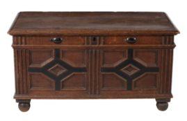 A James II oak coffer