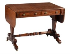 A George IV mahogany library table