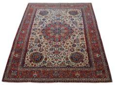 An Isfahan or Kirman carpet