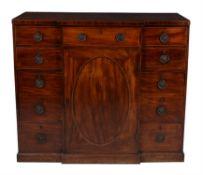 A Regency mahogany breakfront side cabinet