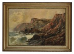 E. P. Constable (British fl. 1879) , Rocky coastal landscape