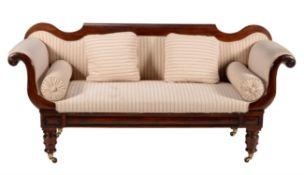 A William IV mahogany and upholstered sofa