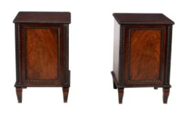 A pair of George IV mahogany side cabinets