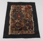 Two antique Turkish carpet fragments