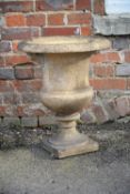 A Victorian terracotta urn or planter