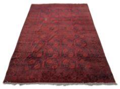 An Afghan carpet