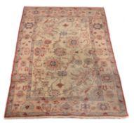 A woven carpet in Ziegler Mahal style