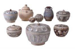 A group of Northern Thai Pottery vessels