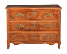 A French walnut commode