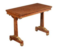A Regency amboyna and parcel gilt card table