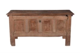 A carved oak chest