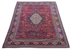 A Kirman or Isfahan carpet