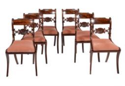 A set of six George IV mahogany dining chairs