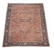 †An Heriz carpet