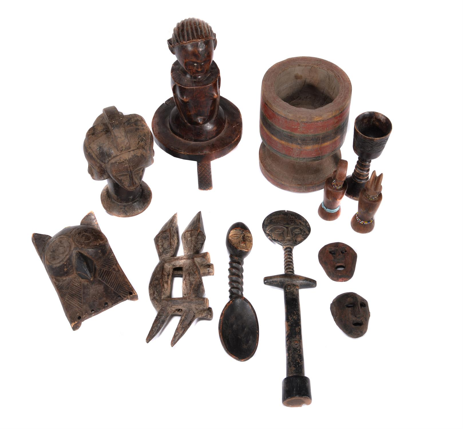 A Group of twelve tribal artefacts